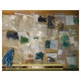 2.5# Glass & Semiprecious Beads Incl. Jade & Cryst
