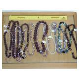 1# 13 Strands Amethyst Quartz and Glass Beads