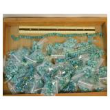 3.5# Large Lot of Various Turquoise Beads
