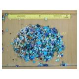1.5# Various Turquoise Glass & Plastic Beads
