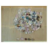 1# Rose Clear and Multicolored Stone Scarab Beads
