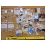 .5# Various Horn Venetian Glass Bone Foil Beads