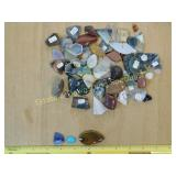 1# Polished Semiprecious & Stone Cabochons + More