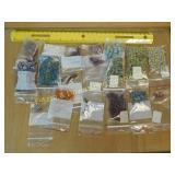 .5# Various Glass Natural Stone MOP Beads