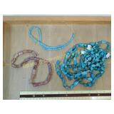 1# 5 Natural Turquoise and other Bead Strands