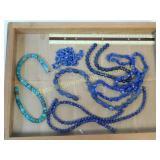 1# Turquoise & Lapis Bead Strands