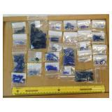1# Cobalt Amethyst Czech Glass Lapis Beads