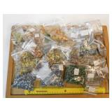 4.5# Large Assortment of Sandcast Beads