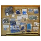 1# Various Blues and Other Glass Faceted Beads