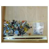 1# Beads of Multi Colors Shapes Sizes & Materials