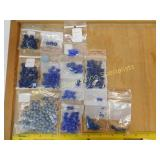1# Various Blue Glass Beads