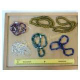1.5# Glass  Cobalt Emerald Tone Bead Strands