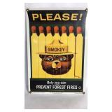 Porcelain Smokey The Bear Sign 11