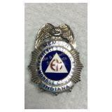 Smith & Warren Monroe County IN Emer. Man. Badge