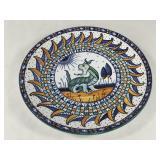 Signed Italian Deruta Dragon Plate