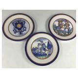 3 Snyder Fiorini Handpainted Plates