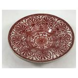 Delft Marked Bowl in Rare Red & White
