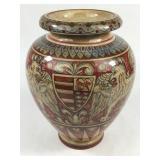 Handpainted Italian Ceramic Urn Signed