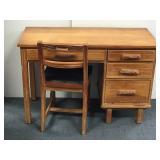 Brandt Ranch Oak Desk & Chair