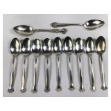 12 Antique Gorham Sterling Silver Teaspoons