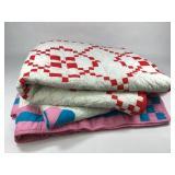 Pr VTG Hand Sewn Quilts