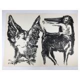Rudy Pozzatti Siren & Centaur Original Lithograph