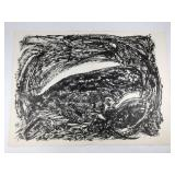 Rudy Pozzatti Whale Original Lithograph