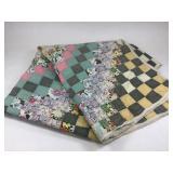VTG Hand Sewn Quilt Multi Color Squares