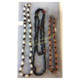 3 Necklaces Garnet Jasper MOP