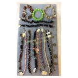 14 Glass Plastic and Gemstone Bracelets
