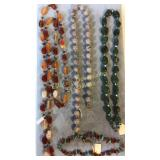 4 Piece Semiprecious Necklaces Sterling & Other