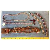 6 Necklaces Pins Bracelets Semiprecious & Other