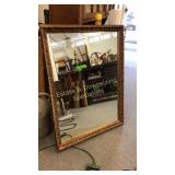 "Large 45"" Gilt Frame Mirror"