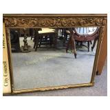 "Gorgeous Lrg Vintage 36"" Carved Gilt Frame Mirror"