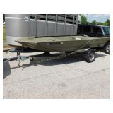 2019 Tracker 1448 Metal Boat & Trailer Brand New