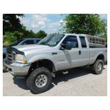 2003 Silver Lifted Ford F-250 Super Duty Diesel