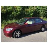 2004 Red Honda Civic EX 96K Miles