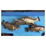3 Smallmouth Bass Taxidermy Wall Mount