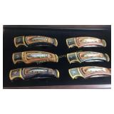 Set of 6 Franklin Mint Fishing Knives