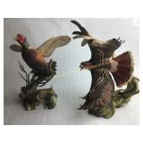 """Ringneck Pheasant"" & ""Red-Tailed Hawk"" Figurines"