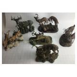 6 Deer Figurines Group