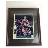 Framed Signed Larry Bird Photo