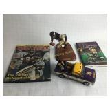 Minnesota Vikings Memorabilia Figure Truck & Books