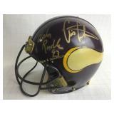 Signed Game Worn Minnesota Vikings Helmet