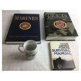 3 Armed Forces Books & Mug