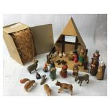 25 Piece Hand Carved/Painted Creche