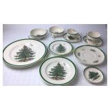 Two 8 Piece Place Settings Spode Christmas Tree