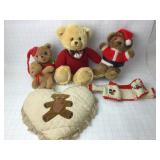 4 Bears Dakin Lauren & Pillow