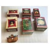 6 Hallmark Keepsake Ornaments in Boxes