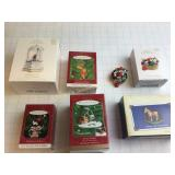 6 Hallmark Keepsake Ornaments